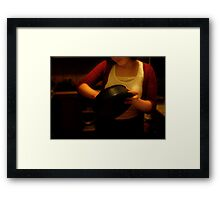 the lessons in my kitchen Framed Print