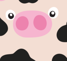 cow and milk Sticker