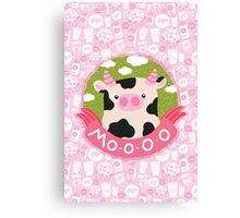 cow and milk Canvas Print
