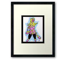 Drunk Girl Framed Print