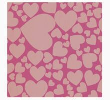 Pink hearts, peach,trendy,cute,love,valentine,girly,modern,fun,happy Kids Clothes