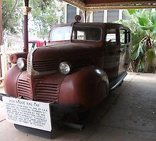 Broken Hill Sulphide St StnTrain Museum, Dodge rail car by Heather Dart