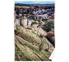 Corfe from the Top Poster