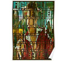 Fight Club Brad Pitt photograph typography Poster