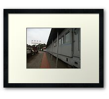 Broken Hill Sulphide St StnTrain Museum, train carriages Framed Print