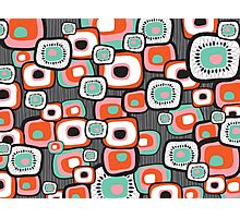 Retro Sushi Flower Squares Photographic Print