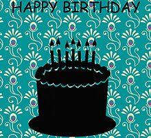 Happy Birthday Peacock Cake by antsp35