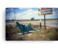 groceries, hardware, clean restrooms Canvas Print