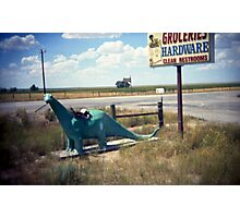 groceries, hardware, clean restrooms Photographic Print