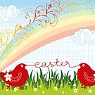 Easter Chicks & Rainbow by fatfatin
