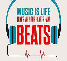Music Is Life.. That's Why Our Hearts Have Beats by Labno4