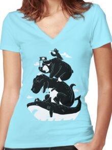 Best Pirates Women's Fitted V-Neck T-Shirt