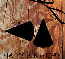 Happy Birthday Wood Grain Design by antsp35