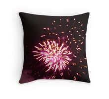 Firework Explosion Throw Pillow