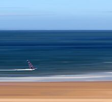 Gullane Windsurfer by bluefinart