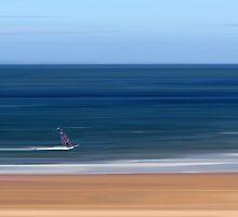 Gullane Windsurfer by bluefinart