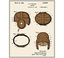 Football Helmet Patent - Colour Photographic Print