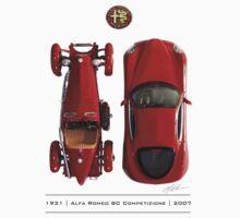 Alfa Romeo 8c Top View by Mark Buchanan