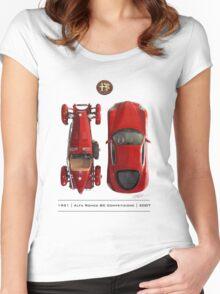 Alfa Romeo 8c Top View Women's Fitted Scoop T-Shirt