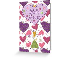 Scribble Hearts Greeting Card