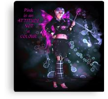 Pretty Pink Punk Pixie Canvas Print