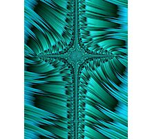 Green Cross Abstract Photographic Print