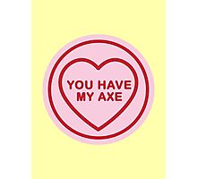 Geeky Love Hearts - Axe Photographic Print