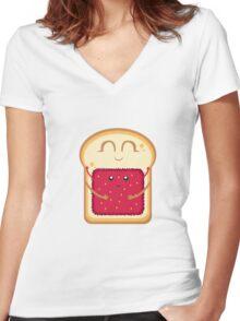 Hug the Strawberry Women's Fitted V-Neck T-Shirt