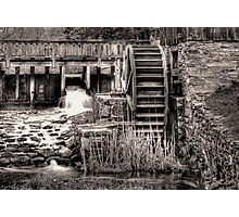 Grist Mill Water Wheel Photographic Print