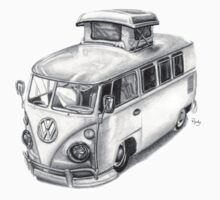 VW Type 2 Bus Split Screen Pop Top by roudyb