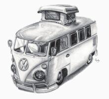 VW Type 2 Bus Split Screen Pop Top by roudyb