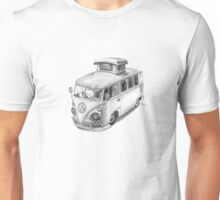 VW Type 2 Bus Split Screen Pop Top Unisex T-Shirt