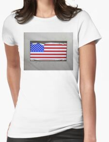 USA FLAG Womens Fitted T-Shirt