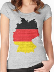 Germany Flag Map Women's Fitted Scoop T-Shirt