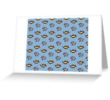 Pi and Pie Pirates pattern Greeting Card