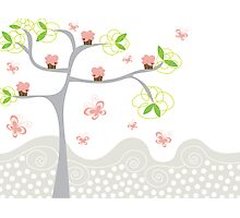 Cupcakes Tree Photographic Print