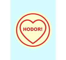 Geeky Love Hearts - Hodor Photographic Print
