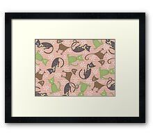 Kitties in Pink Framed Print