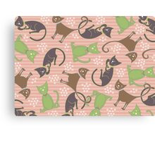 Kitties in Pink Canvas Print