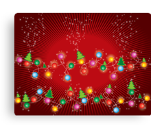 Sparkling Mini X'mas Tree Lights Canvas Print