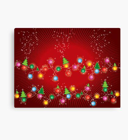 Sparkling Mini X'mas Tree Lights Canvas Print