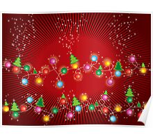 Sparkling Mini X'mas Tree Lights Poster