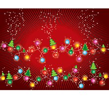 Sparkling Mini X'mas Tree Lights Photographic Print