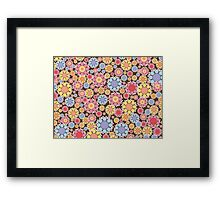 Pastel Snow Flowers Framed Print
