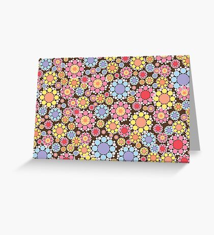 Pastel Snow Flowers Greeting Card