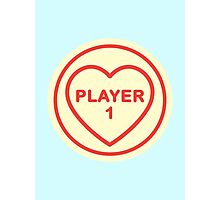 Geeky Love Hearts - Player 1 Photographic Print