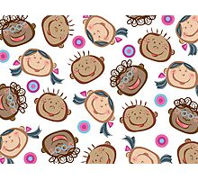 Happy Silly Faces Photographic Print