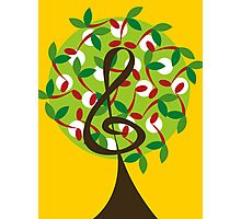 Musical Cherry Notes Tree Photographic Print