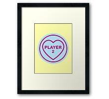 Geeky Love Hearts - Player 2 Framed Print
