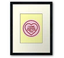 Geeky Love Hearts - Time Framed Print